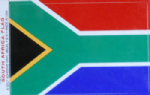 South Africa Country Flag Rectangular Decal.